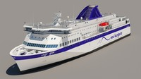 3ds max passenger ferry boat