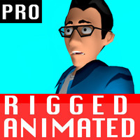 free male character rigged biped 3d model