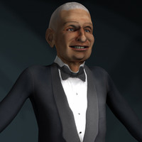 3d rigged character pack men