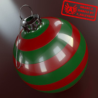 Ornament 8 - High Quality Christmas Ornament - 3ds max 2010 - Mental Ray