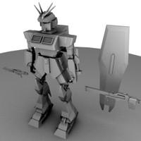 3ds max robot mesh