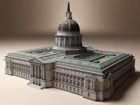 san francisco city hall 3d model