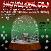 obj snowglobe snow globe