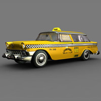 3d chevy nomad taxi cab model