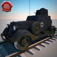 Wg 202 German WW2 Railway Armoured Car V2