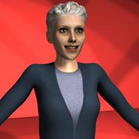 set character 3d model