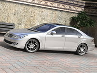mercedes c-class sedan concept 3d model