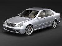 3d model mercedes w203 sedan car