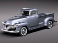 3dsmax chevrolet pickup 1950 antique