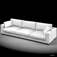 flexform status 02 modern contemporary sectional sofa 3 seat
