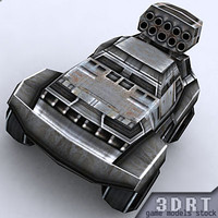 real-time sci-fi jeeps 3d 3ds