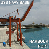 USS NAVY Base / Harbour Seaport / ALL ELEMENT ( Aircraft Carrier / War Ships & Vehicles )