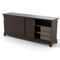 Promemoria Oolong modern contemporary wenge commode