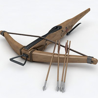 3d max crossbow bow medieval