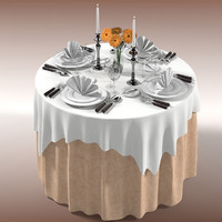 3d model of table restaurant dining