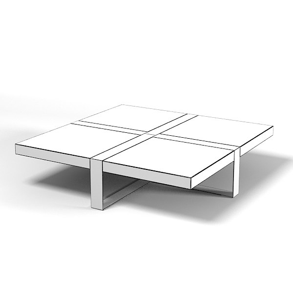 3ds square modern marble - square modern marble table contemporary... by archstyle