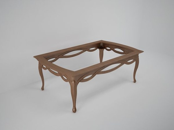 carved coffee table 3d max - 3D Model of Coffe table... by pyromanu