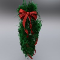 3ds max evergreen swag decoration bow ribbon