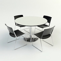 TABLE & CHAIRS - Vray & Mental Ray Materials