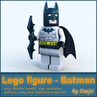 3d lego character - batman model
