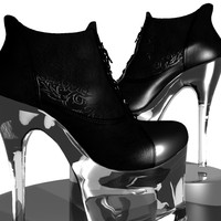 3ds fetish ankle boots