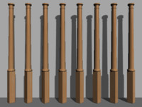 3d obj column stair decoration
