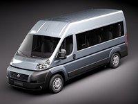 fiat ducato iii passenger 3d 3ds