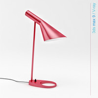 3d model arne jacobsen table lamp