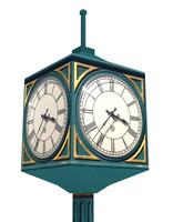 Street clock low poly