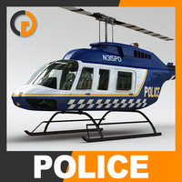 Helicopter - Police Bell 206L with Interior