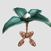 3d model victorian flower table lamp