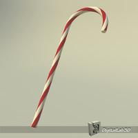 3d christmas cane