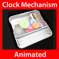 Clock Mechanism Extremely Detailed Animated