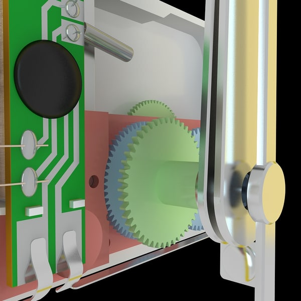 extremely clock mechanism animation 3d model - Clock Mechanism Extremely Detailed Animated... by Studio 3D Plus