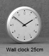 3d model wall clock 25cm