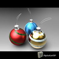 christmas ball 3d 3ds