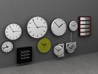3d modern clock wall