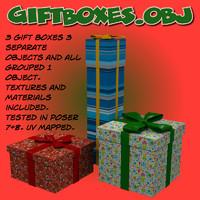3d obj gift boxes