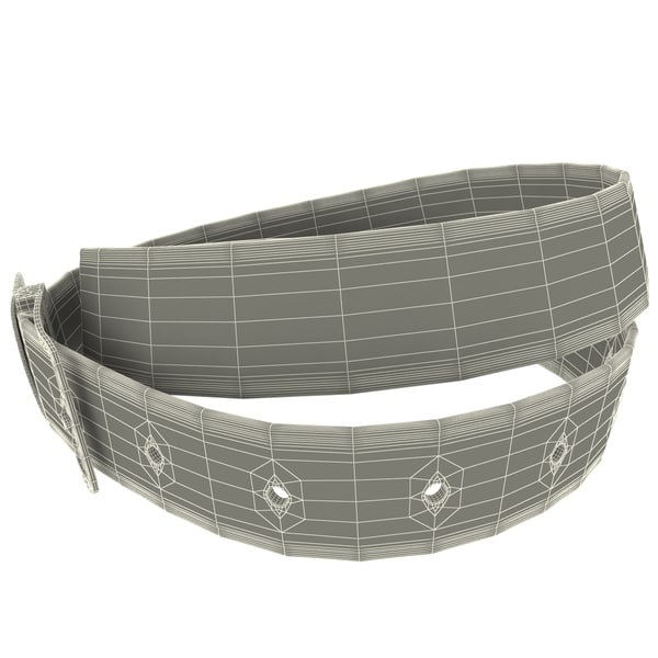 leather belt v2 c4d - Leather Belt V2... by 3d_molier