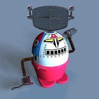 3d model vintage toy moon stroller