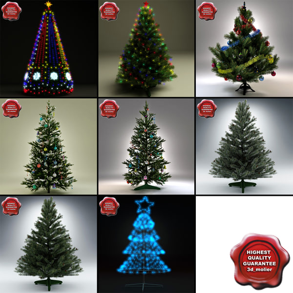 New Year Trees Collection V5