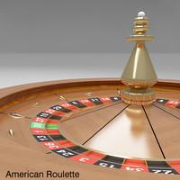roulette wheel 2 american 3d model
