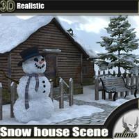 3d snow house scene model