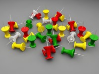 3d model of tacks