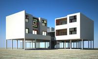 3d model building housing