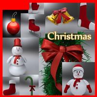 3d model christmas mega