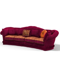 3d model classic velvet upholsered