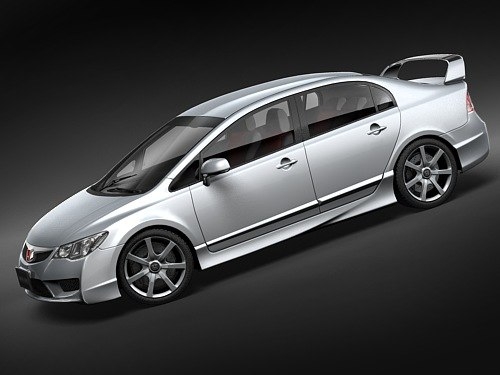 honda civic type r 3d model - Honda Civic Type R sedan... by squir