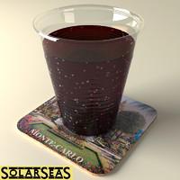 hires cola cup 3d max
