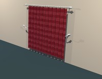 curtains door window 3d lwo